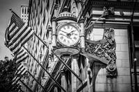 Chicago Marshall Fields Clock in Black and White