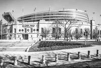 Chicago Bears Soldier Field in Black and White