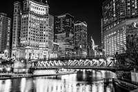 Downtown Chicago Michigan Avenue Bridge Cityscape