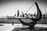 Black and White Picture of Adler Planetarium Sundi