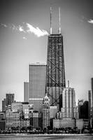 Chicago Hancock Building in Black and White