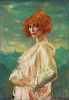 The Marchesa Casati by Augustus Edwin John (1919)