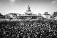 Austin State Capitol Building in Black and White