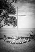 Catalina Island Cross in Black and White