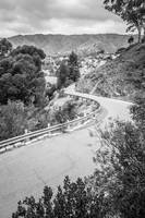 Catalina Island Mountain Road in Black and White