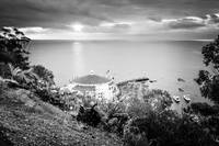 Catalina Island Sunrise in Black and White