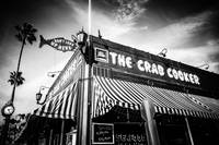 The Crab Cooker Newport Beach in Black and White