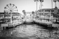 Newport Beach Ferry Dock in Black and White