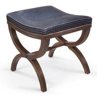 A Regency mahogany stool by B Harmer, after a desi