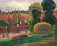 A Farm in Brittany by Paul Gauguin