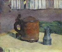 Wood Tankard & Metal Pitcher by Paul Gauguin