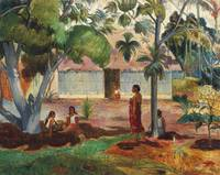 The Large Tree by Paul Gauguin