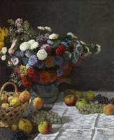 Still Life with Flowers and Fruit by Claude Monet