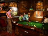 Sport - Please do not sit on pool tables 1940
