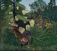 Fight between a Tiger and a Buffalo by Rousseau