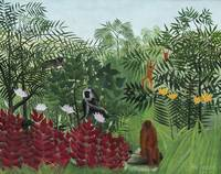 Tropical Forest with Monkeys by Henri Rousseau