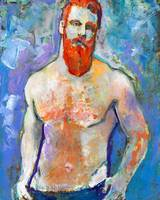 Emerald Bay Man with Red Beard
