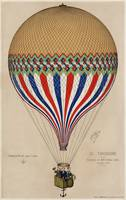 The Tricolor Balloon with French Flag