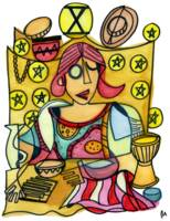 Ten of Pentacles by Pollux -© Paul Morris, 2020