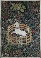The Unicorn in Captivity Medieval Tapestry