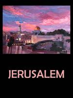 Retro Travel Poster Jerusalem