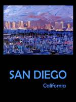 Retro Travel Poster San Diego California