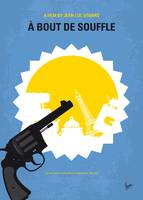 No1128 My A Bout De Souffle minimal movie poster
