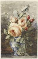 Bouquet of roses in a vase, Adrienne Jacqueline s'