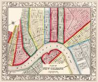 Map of New Orleans 1863