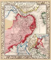 Boston Map 1863
