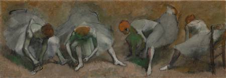 Frieze of Dancers by Edgar Degas