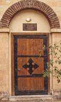 Door with Coptic Cross