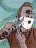 Greek Cyclops Knife Shaving Fantasy Art