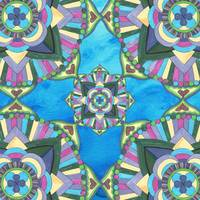 Hand Painted Watercolor Mandala Meditation Pattern