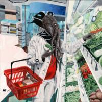 Mind Flayer Grocery Store Shopping Fantasy Art