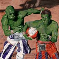 Orc Gladiator Football Sports Fantasy Art