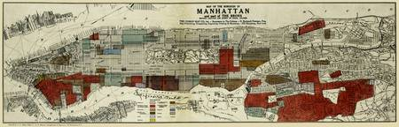 Old Manhattan Map: Ethnic & Racial Neigborborhoods