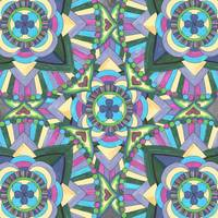 Watercolor Mandala Pattern in Blue Green Purple