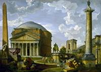 Fantasy View with the Pantheon and other Monuments