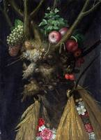 Four Seasons in One Head by Giuseppe Arcimboldo (c
