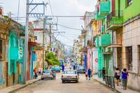 An infinite and colorful side street in Havana - C