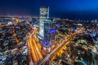 The city skyline of Tel Aviv in Israël