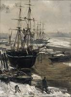 The Thames in Ice by James Whistler (1860)