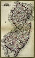 Antique Atlas Pages showing New Jersey 1873