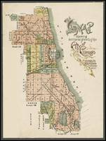 Chicago Antique Map Showing Territorial Growth 189