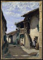 A Village Street, Dardagny 1852, 1857, or 1863 Cam