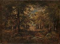 A Vista through Trees, Fontainebleau 1873  by Narc