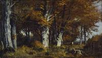 Adolf Heinrich Lier, Buchenwald in autumn, 1874
