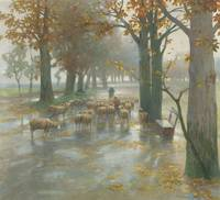 Adolf Kaufmann   (Opava 1848-1916 Vienna) Flock of