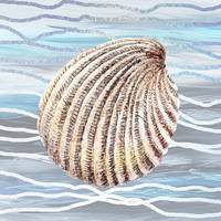 Seashell On Wave Beach House Style Decor II